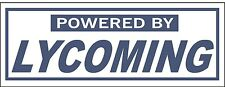 A165 Powered by Lycoming Airplane banner hangar garage decor Aircraft signs