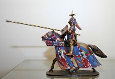 MOUNTED KNIGHT, CUSTOM 54MM, CHARGING MADE IN RUSSIA, WHITE METAL ALLOY