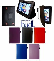 """TESCO HUDL 1 ONE 7"""" LEATHER CASE COVER STAND"""