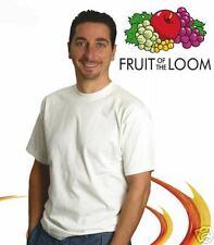 Stock 10 t-shirt Bianco FRUIT of the Loom 195 HiQualità