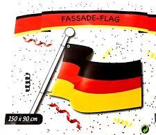 Deutschland Flagge WM Fahne Große 150x90 cm Fußball Flag Fussball Fahne 2 Ösen