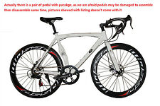 Road Bike Cycling 14 Speed 26 Inch/700CC 60mm Men's / Unisex Adult SHIMANO White
