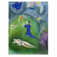 CH0022 - CHAGALL - Dafhnis and Chloe - AUTHENTIC 1977 Vintage Lithograph