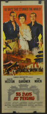 55 DAYS AT PEKING 1963 ORIGINAL 14X36 MOVIE POSTER CHARLTON HESTON AVA GARDNER