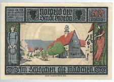 Notgeld - Stadt Lobeda (zu Jena) - 50 Pfennig - 1921 - Motiv 4 - Straßenszene