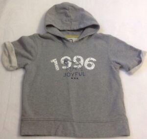 Boy's Okaidi Sweatshirt Hoodie Sz 8 Gray Cuffed Hooded Shirt Bulldog Fashion