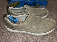 NEW Men's Margaritaville Tan Slip On Canvas Shoes Sz 10, 10.5, 11, 12, 13