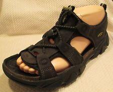 KEEN Sarasota Black Leather Hiking Trail Sport Sandals Shoes 8 / 38.5 EXCELLENT!