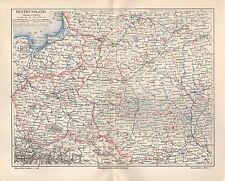 Westrussland West Russland Rußland Landkarte von 1896 Wiln Minsk Pinsk Shitomir