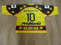 Kölner Haie Original Eishockey Trikot 1995/96 + Nr.10 Borsato + Signiert Gr.XXL