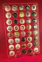 présentoir pour 40 capsules de champagne, muselets. réf: PRE14