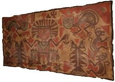 Huari Textile Warrior And Cats Genuine Wari Pre-Columbian Chavin,Chimu