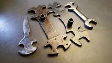 Lot of 4 Vintage Welding / Tank Multi Wrenches Airco Oxweld A-1013 and Other