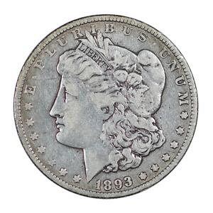 1893 O MORGAN SILVER DOLLAR $1 key date NICE FINE