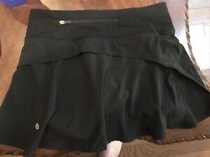Lululemon Womens Pace Rival Skirt Skort Black Size 2