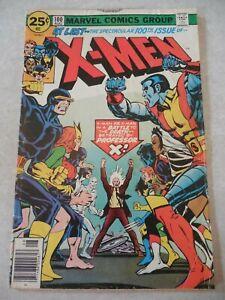 X-MEN #100, MARVEL COMICS, ORIGINAL VS. NEW X-MEN, CLAREMONT, 1976 VG 4.0!