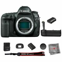 Canon EOS 5D Mark IV DSLR Camera Body +  Battery Grip + Extra Battery Pack