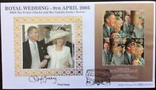 9.4.2005 ROYAL WEDDING FDC Signed PHILIP TREACY Hat Designer, Harry Potter Hats