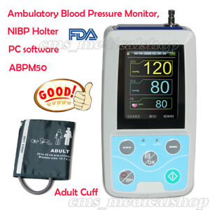 ABPM50 Ambulatory Blood Pressure Monitor,NIBP Holter, Adult cuff+software