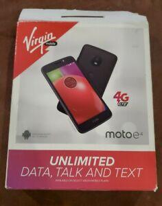 """OPEN BOX Virgin Mobile Prepaid Motorola Moto E4 16GB 5"""" 4G LTE Smartphone"""