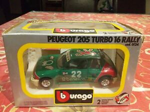 Peugeot 205 Turbo 16 Rally Benetton By Bburago 1:24 Scale