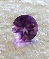 2 PC ROUND CUT SHAPE NATURAL DARK AMETHYST 5-5.5MM FACETED LOOSE GEMSTONES