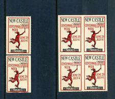 6 VINTAGE 1925 NEWCASTLE CENTENNIAL 'PROSPERITY' WEEK POSTER STAMPS (L459)