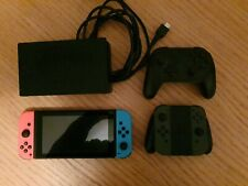 Nintendo Switch 32 GB Neon Blue and Red + Grey Joy Cons and Pro Controller