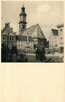 CZECH REPUBLIC TOWN SQUARE VINTAGE REAL PHOTO POSTCARD RPPC