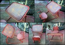 1970's Child's Metal Chair & Desk With Alphabets & Numbering