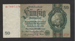 50 REICHSMARK FINE  BANKNOTE FROM GERMANY 1933 PICK-182