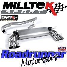 "Milltek Audi S3 8v 3-Door Exhaust 3"" Cat Back Non Resonated Polish Oval SSXAU395"