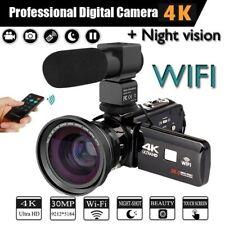 4K Camcorder Video Camera Ultra HD Wi-Fi Digital Camera 30.0MP 3.0 inch Touch