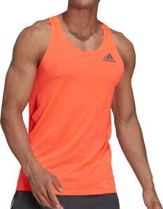 adidas Adizero PrimeBlue Mens Running Vest - Orange
