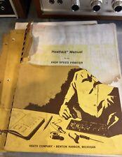 Heathkit H-25 High Speed Printer Original Assembly Manual