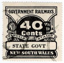(I.B) Australia - NSW Railways : Parcel Stamp 40c (State Government) inv wmk