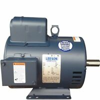 New H/D Leeson Electric motor 131537 replaces Baldor L1410T 5 hp 184T 1740rpm