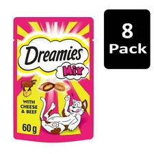 8 x 60g Dreamies Mix Adult Cat Treats with Cheese and Beef Cat Biscuits (480g)