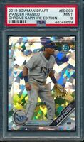 PSA 9 WANDER FRANCO 2019 Bowman Chrome Draft SAPPHIRE REFRACTOR Rookie RC MINT