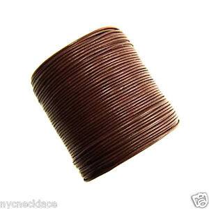 0.5mm Brown Leather Cord String Bead Necklace 25 yards