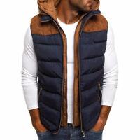 Men's Winter Sleeveless Vest Jacket Slim Fit Coat Men Warm Hooded Waistcoat Tops