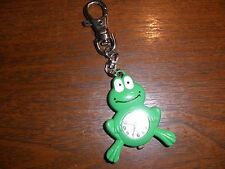Dakota Yoshi Oshi Green Frog Charm Clip-On Key Ring Purse Watch