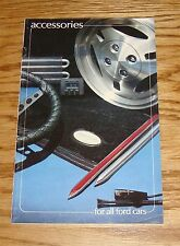 Original 1981 Ford Car Accessories Sales Brochure 81 Mustang Thunderbird