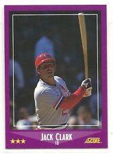 1988 Score High Gloss Baseball - #100 - Jack Clark - St. Louis Cardinals