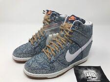 new styles 8ca3a 80e52 Nike Dunk Sky Hi Liberty QS Size 7 Women Blue Recall White Linen 529040-401