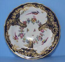 "Chelsea , Samson ? "" Exotic Bird "" Plate Cobalt Blue with rich gilding  22cm"