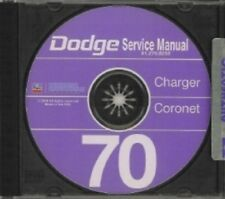 DODGE 1970 Charger/Coronet/Super Bee Shop Manual CD 70