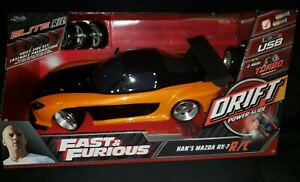 Jada Toys Fast And Furious Drift R/C Han's Mazda Rx-7 - 2.4GHz Brand New Sealed