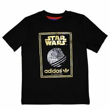 Adidas Originals Star Wars Kids Camiseta todesstern Camiseta Negro Oro 74-176