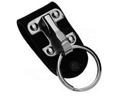 Leather Belt Loop Clips Retractable Key Chain Holder Stainless Steel Keyring